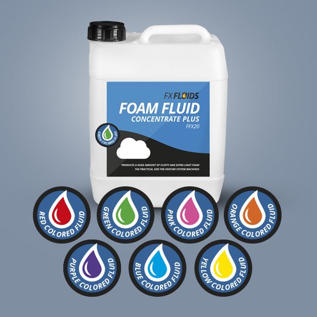 COLORED FOAM FLUID CONCENTRATE PLUS FFX20